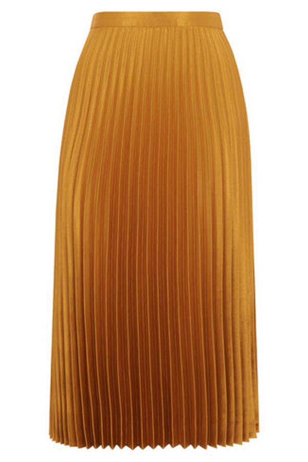 Click to buy Whistles Satin Pleated Skirt online