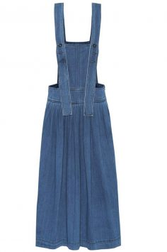 Click to buy Chloé Denim pinafore dress online