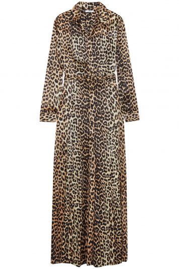 Click to buy Ganni leopard print dress