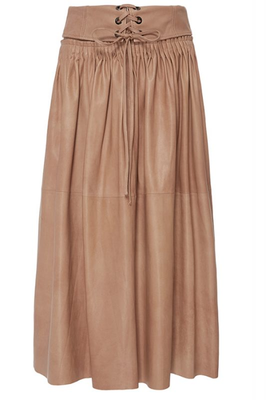 Click to buy Hilda Stitched Leather Skirt online