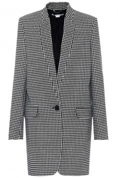 Click to buy Houndstooth wool coat online