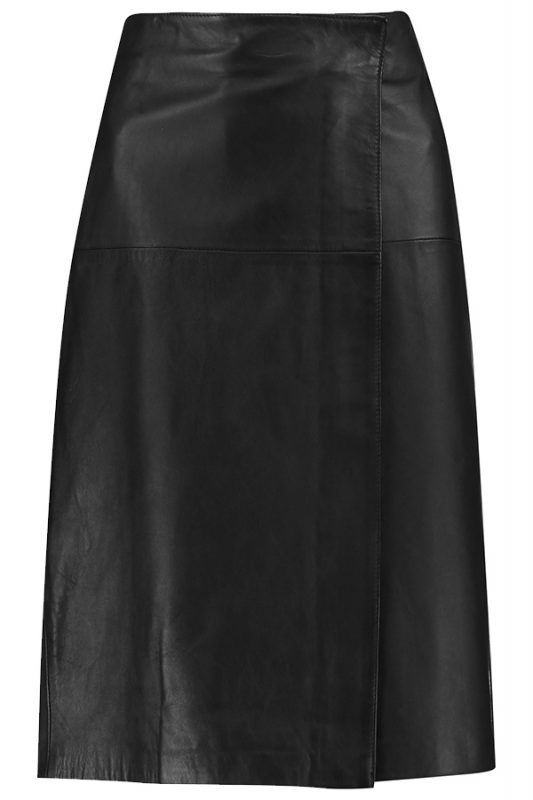 Iris and Ink leather wrap skirt