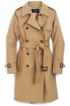 Click to buy J Crew Pleated Trench online