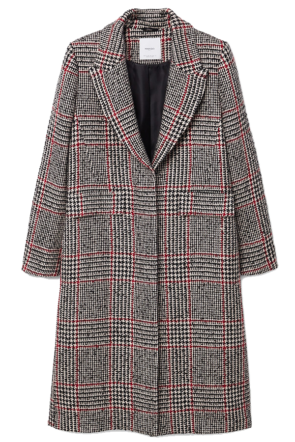Click to buy Mango Black Checkered coat online