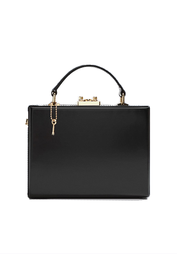 Click to buy Mango Black Coffer bag online