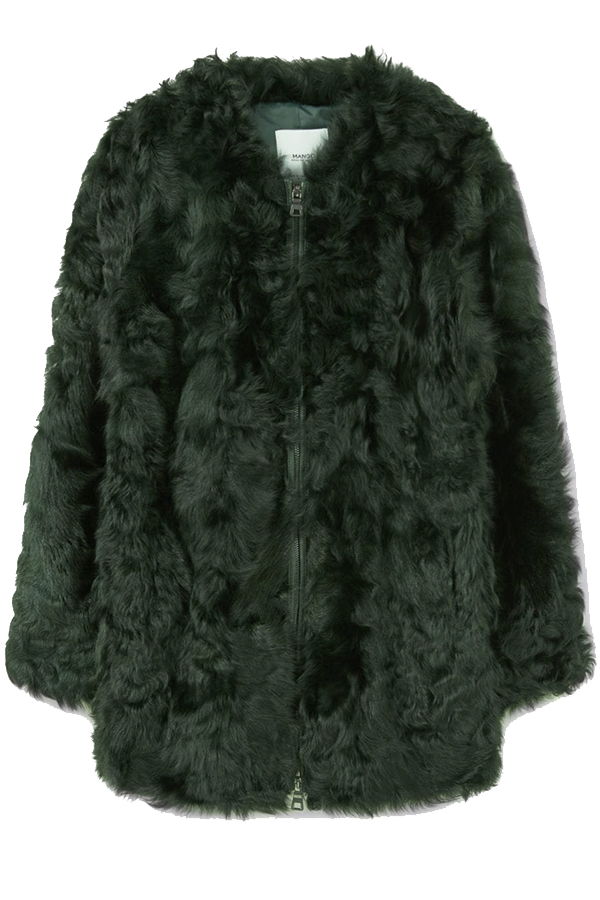 Click to buy Mango Fur leather coat online