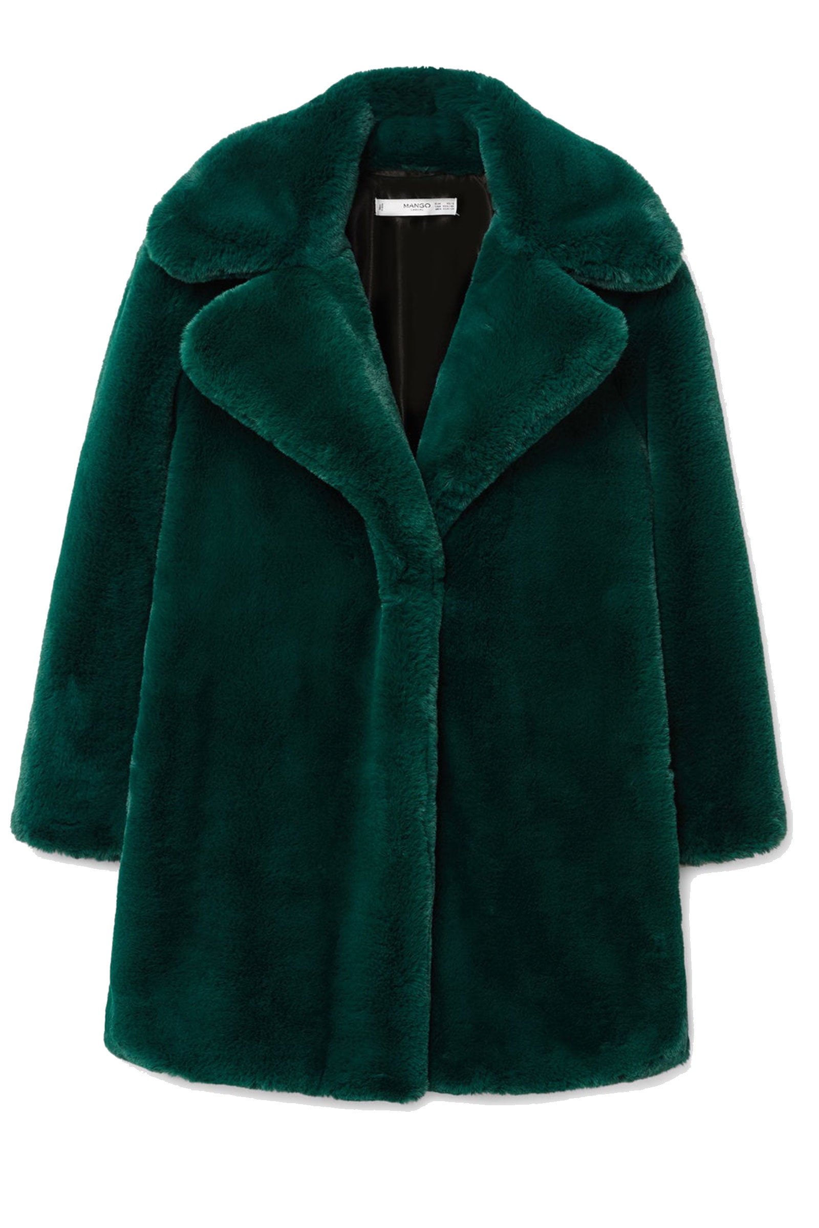 Click to Buy Mango-Green-Faux-Fur-Coat