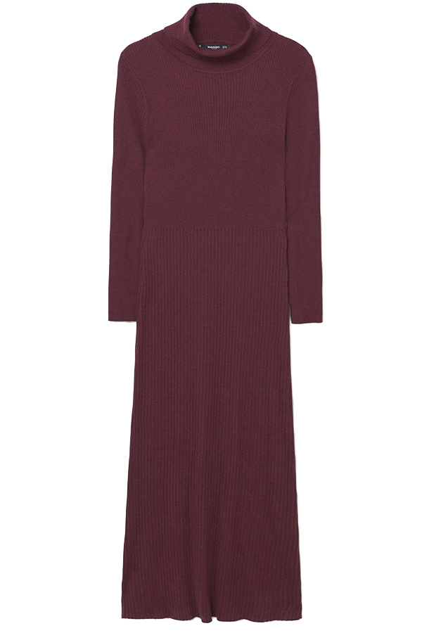 Click to buy Mango Ribbed long dress online