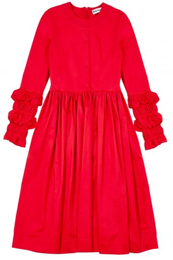 Click to buy Molly Goddard red dress