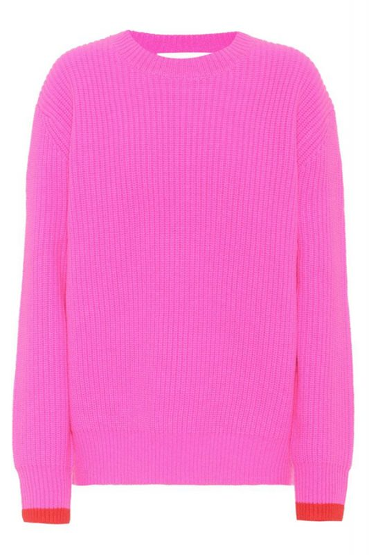 Click to buy Oversized wool neon pink sweater online