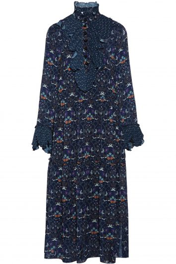 Click to buy Navy floral maxi dress Online