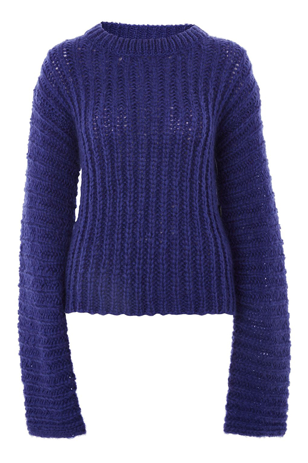 Click to buy Topshop Extreme Knitted Jumper online