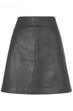 Click to buy Whistles Leather A Line Skirt online