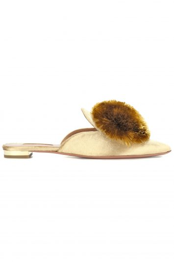 Click to Buy Aquazzura Powder Puff Slippers