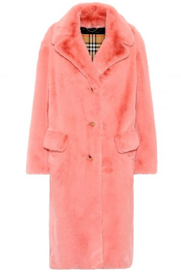 Click to buy Burberry faux fur coat