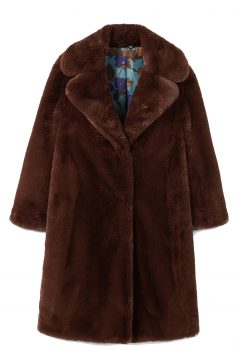 Click to Buy Mango Lapels Faux Fur Coat