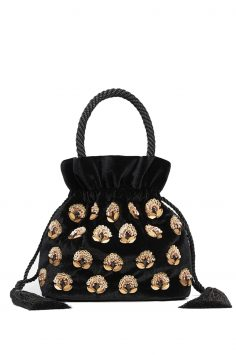 Click to Buy Mango Velvet Beaded Bag