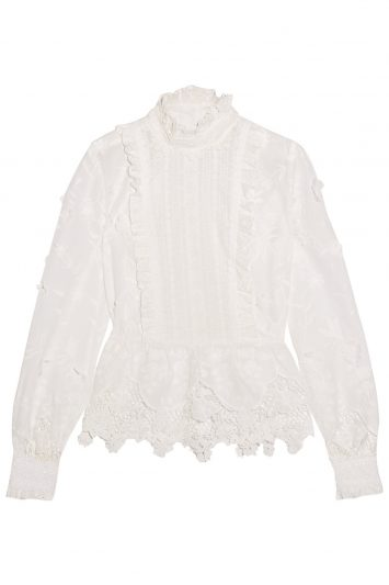 Click to buy Anna Sui white ruffled shirt
