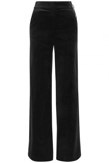 Click to buy FRAME velvet wide-leg trousers