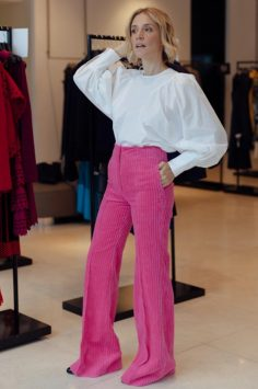 Image of LF in pink trousers