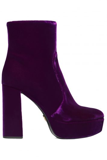 Click to buy Prada velvet platforms