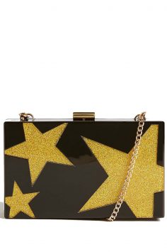 Click to buy Marks and Spencer Star Perspex Clutch Bag
