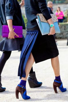 Image of street style wearing exposed socks