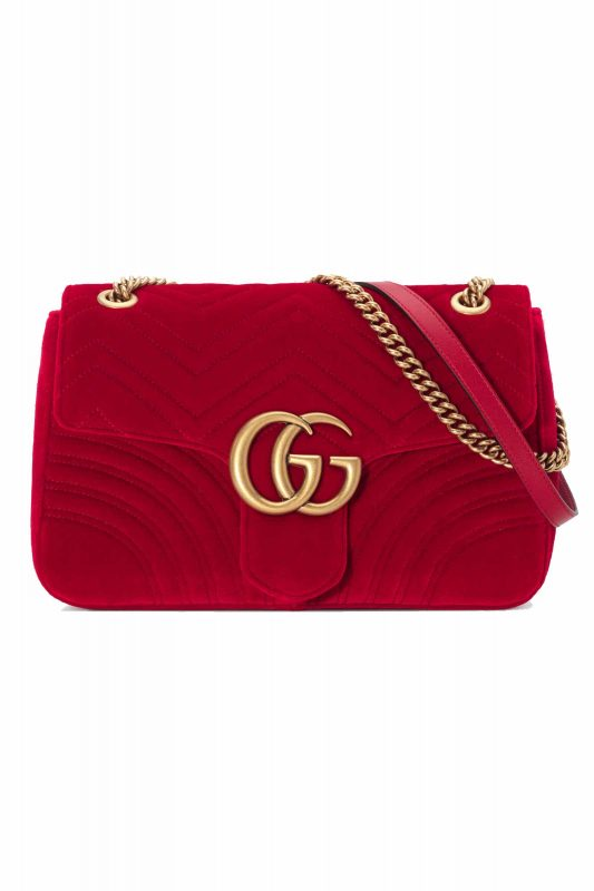 Click to Buy Gucci Marmont Red Velvet Bag
