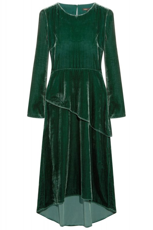 Click to Buy Maje Velvet Midi Dress