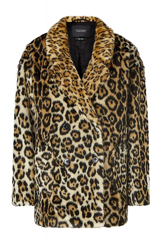 Click to Buy Scotch & Soda Leopard Print Coat