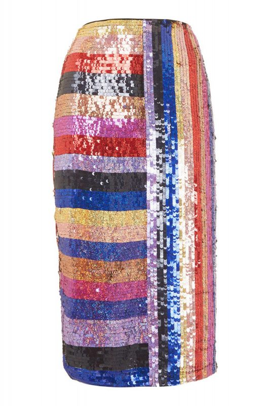 Click to Buy Topshop Rainbow Sequin Skirt