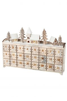 Click to Buy Wooden Winter Village Advent Calendar
