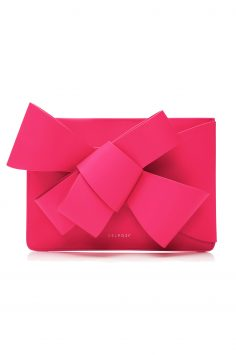 Click to Buy Delpozo Pink Leather Clutch