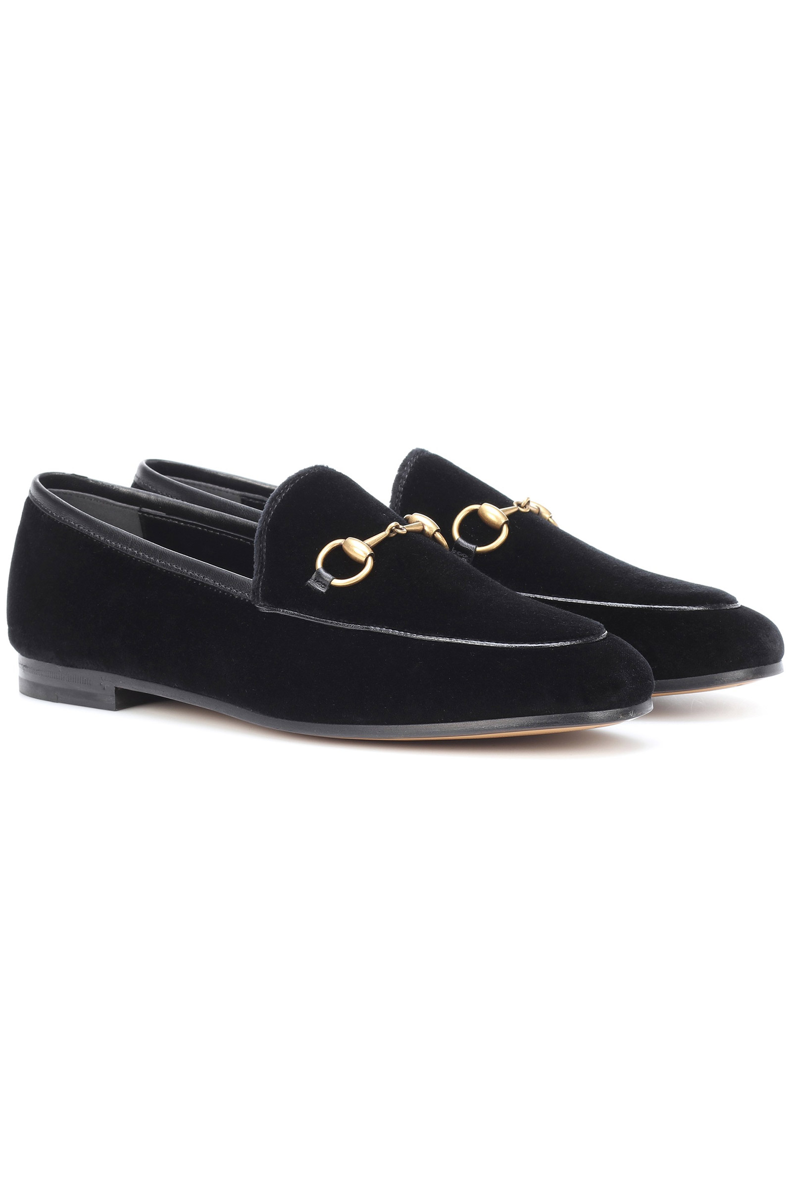 Click to Buy Gucci Jordaan Velvet Loafers