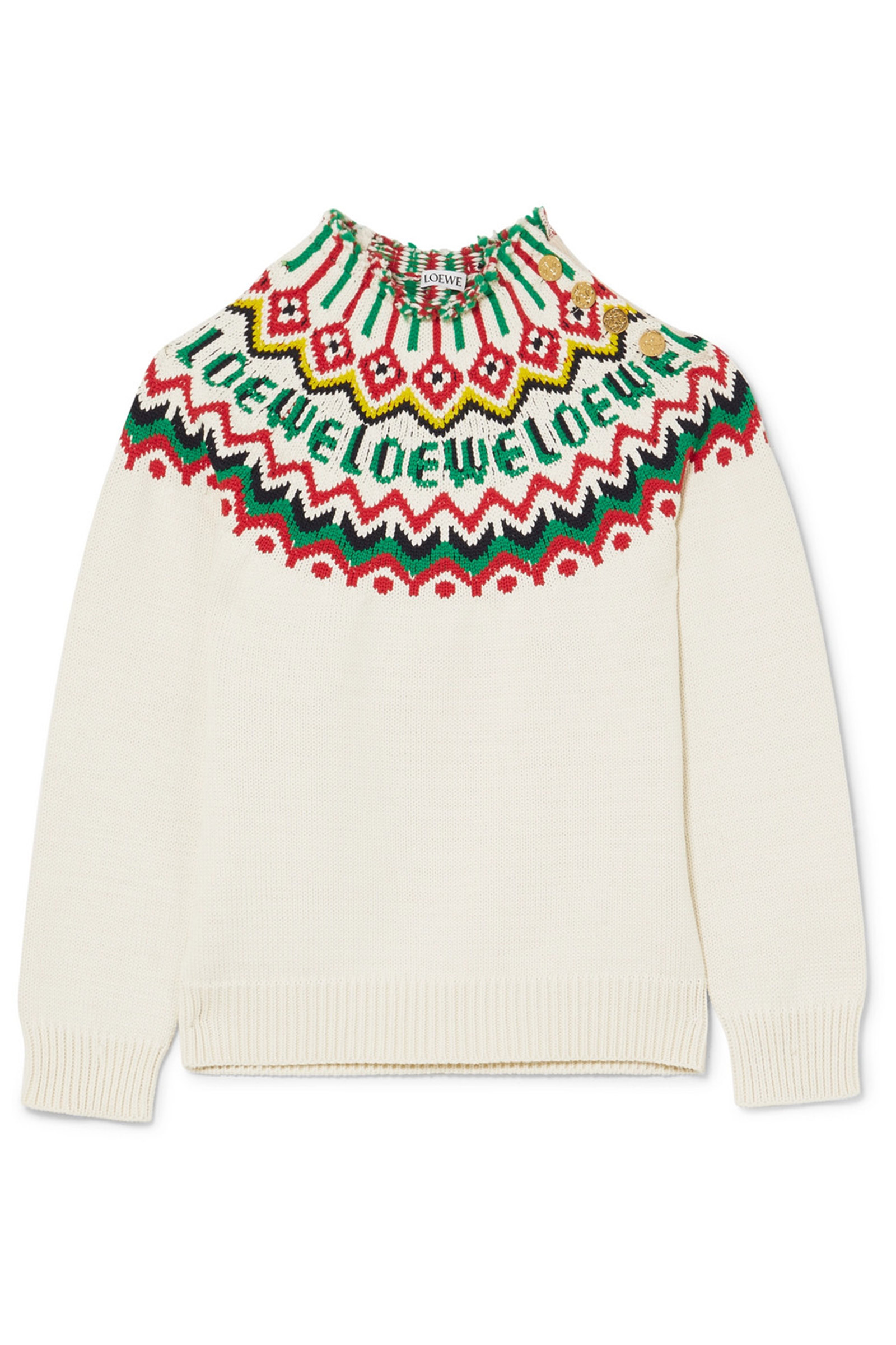 Click to Buy Loewe Fair Isle Sweater