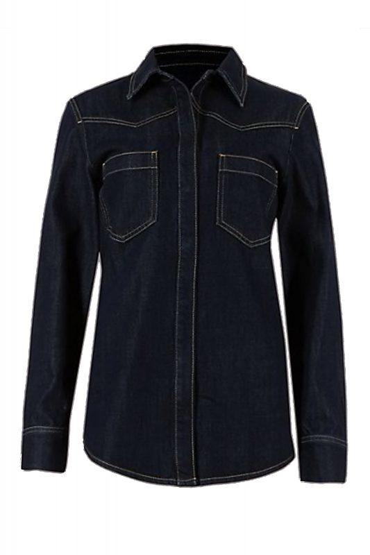 Click to Buy Marks and Spencer Cotton Denim Shirt