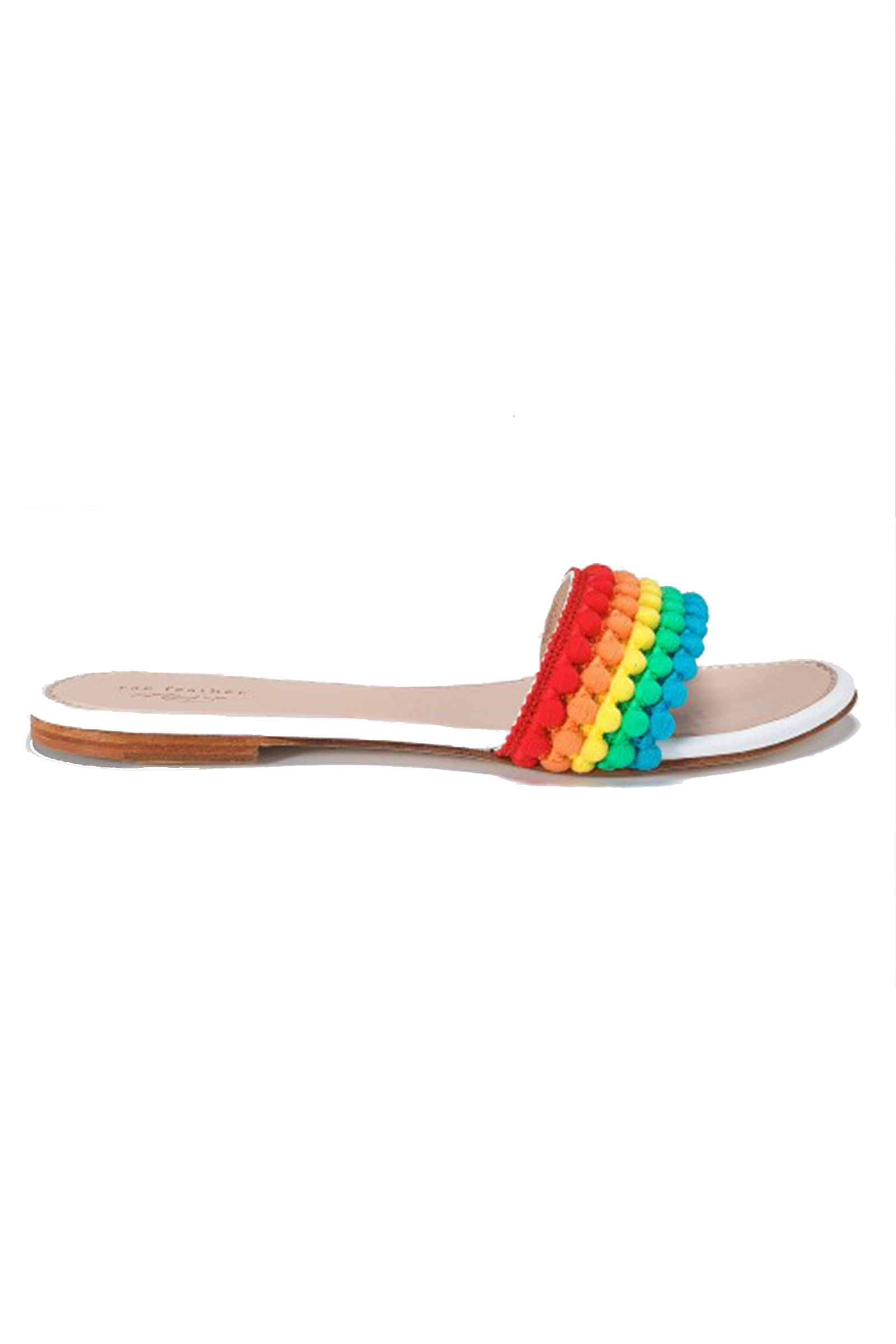 Click to Buy Rae-Feather-Pom-Pom-Sandals