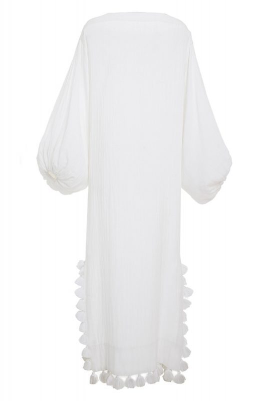 Click to Buy Rhode Resort White Balloon Sleeve Dress