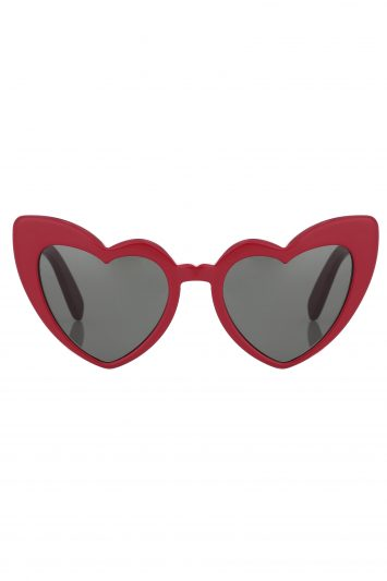 Click to Buy Saint Laurent Lou Lou Red Heart Sunglasses