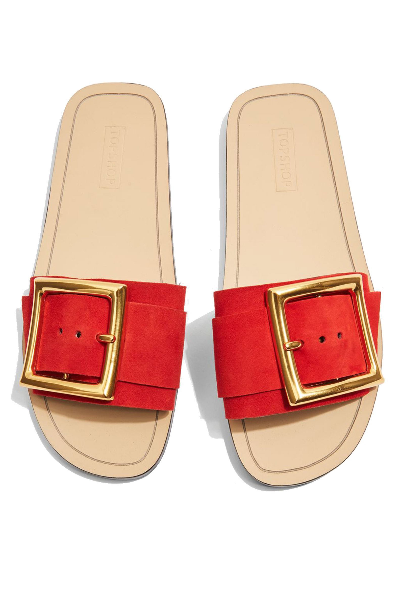 Click to Buy Topshop Red Fox Slider Sandals