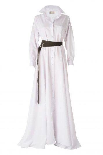 Click to Buy DANEH White Maxi Dress