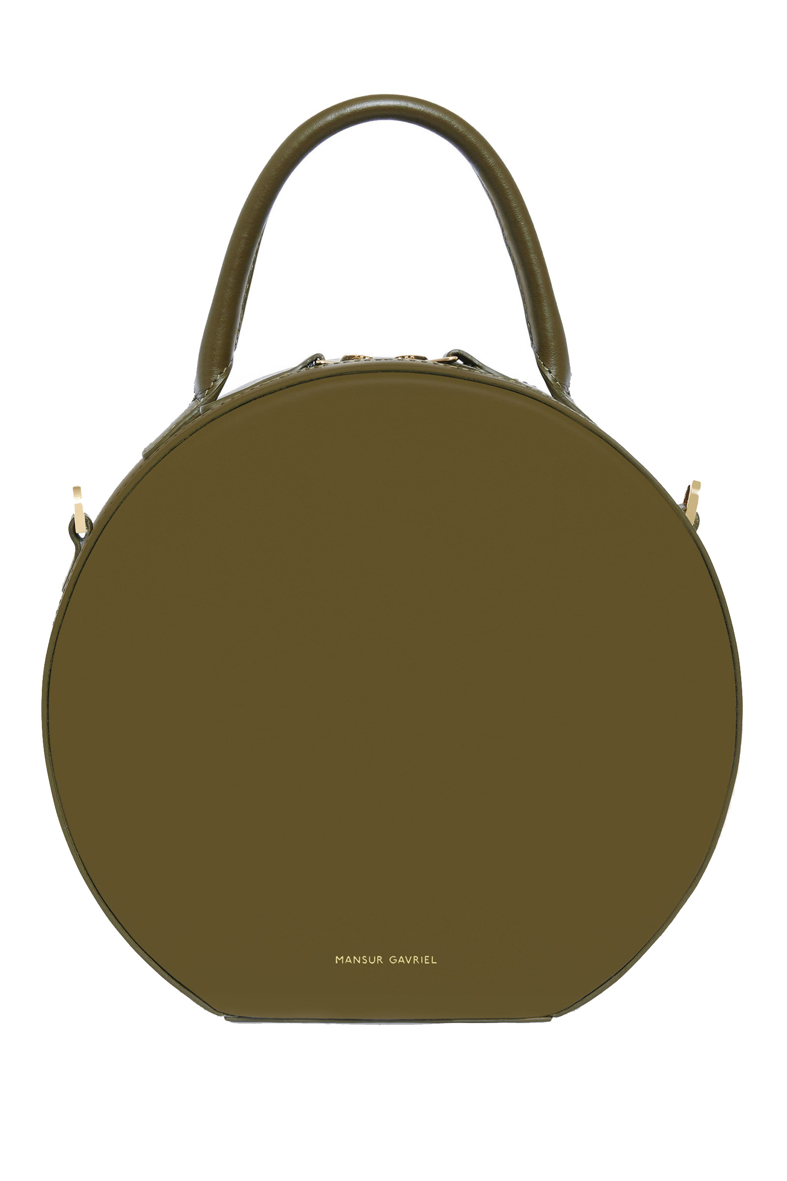 Click to Buy Mansur Gavriel Green Mini Leather Circle Bag