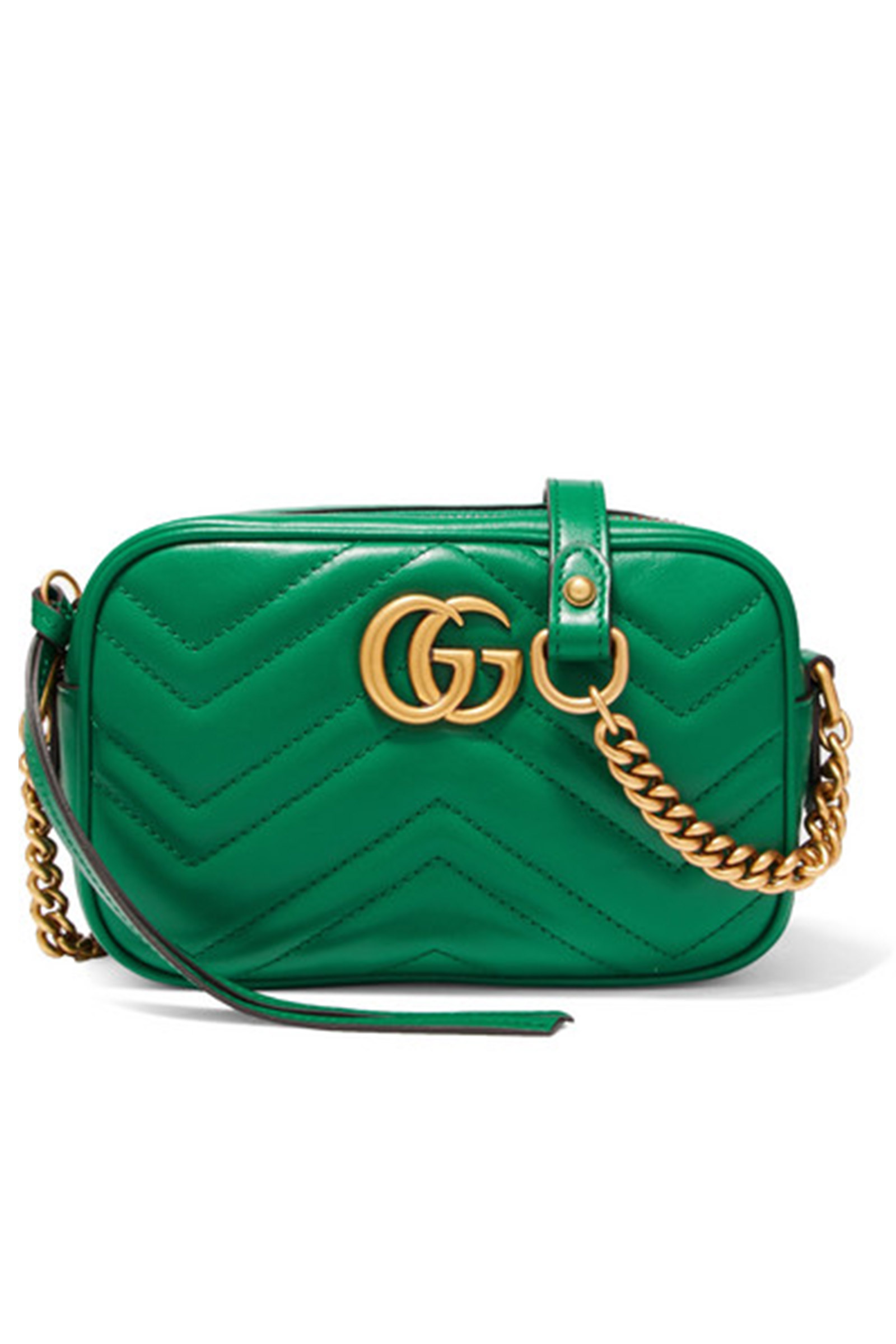 Click to Buy Gucci Green Marmont Mini Shoulder Bag