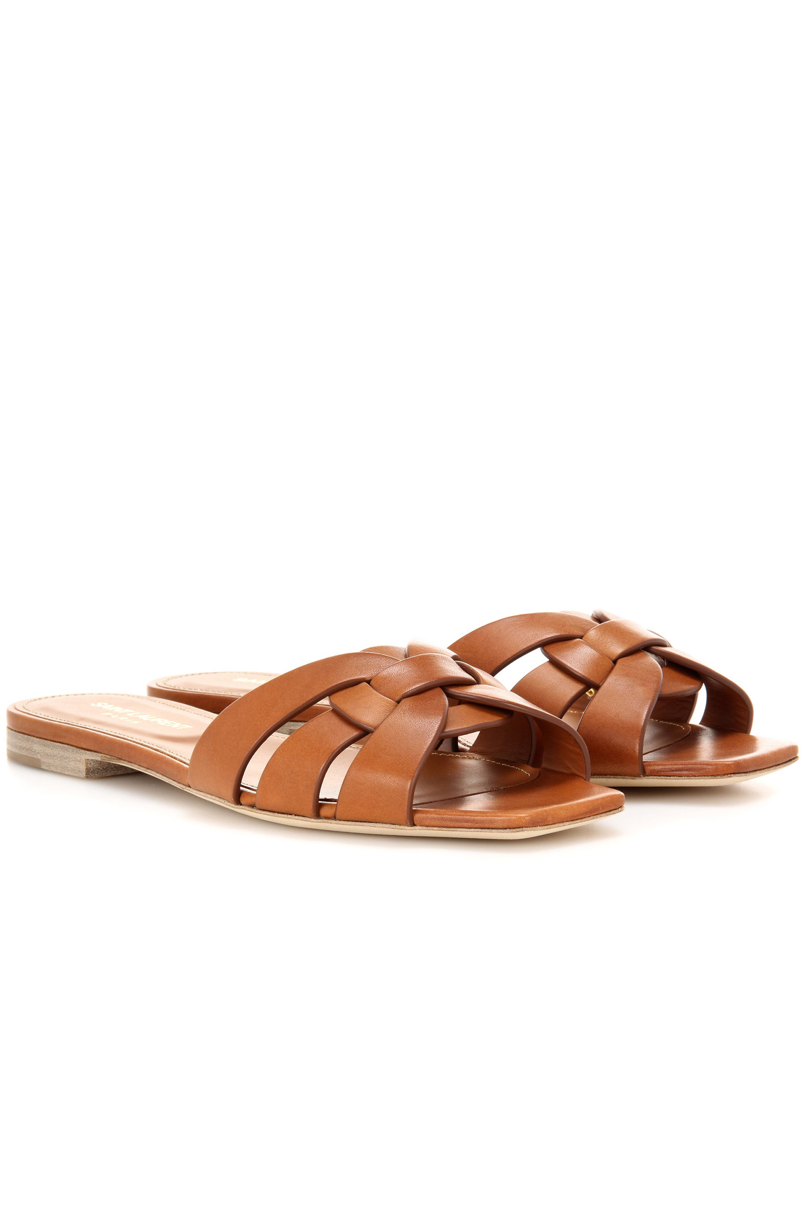 Click to Buy Saint Laurent Nu Pieds 05 Leather Sandals