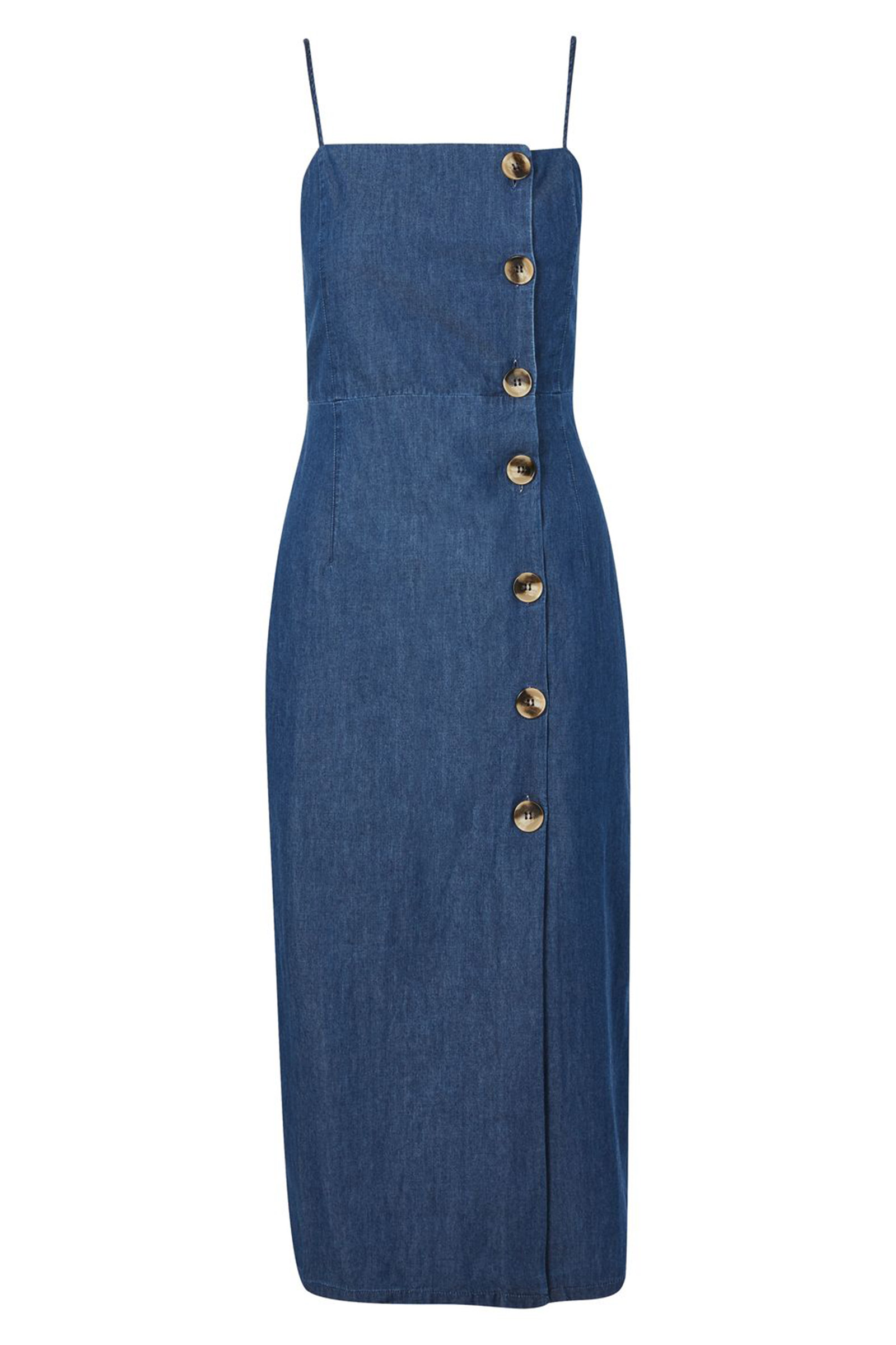 Click to Buy Topshop Denim Midi Dress