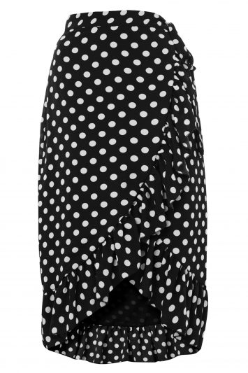 Click to Buy Y.A.S Dot Wrap Skirt