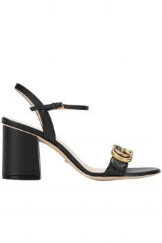 Click to Buy Gucci Black Leather Sandals