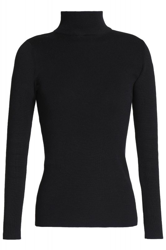 Click to Buy Iris & Ink Black Polo Neck Jumper