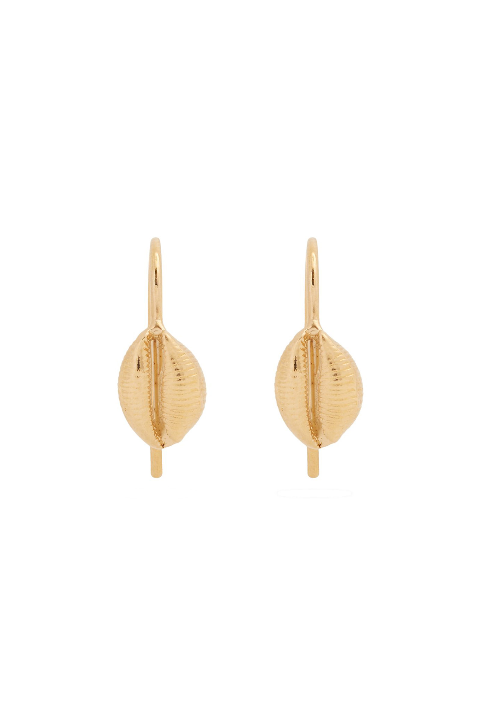 Click to Buy Isabel Marant Gold Shell Drop Earrings