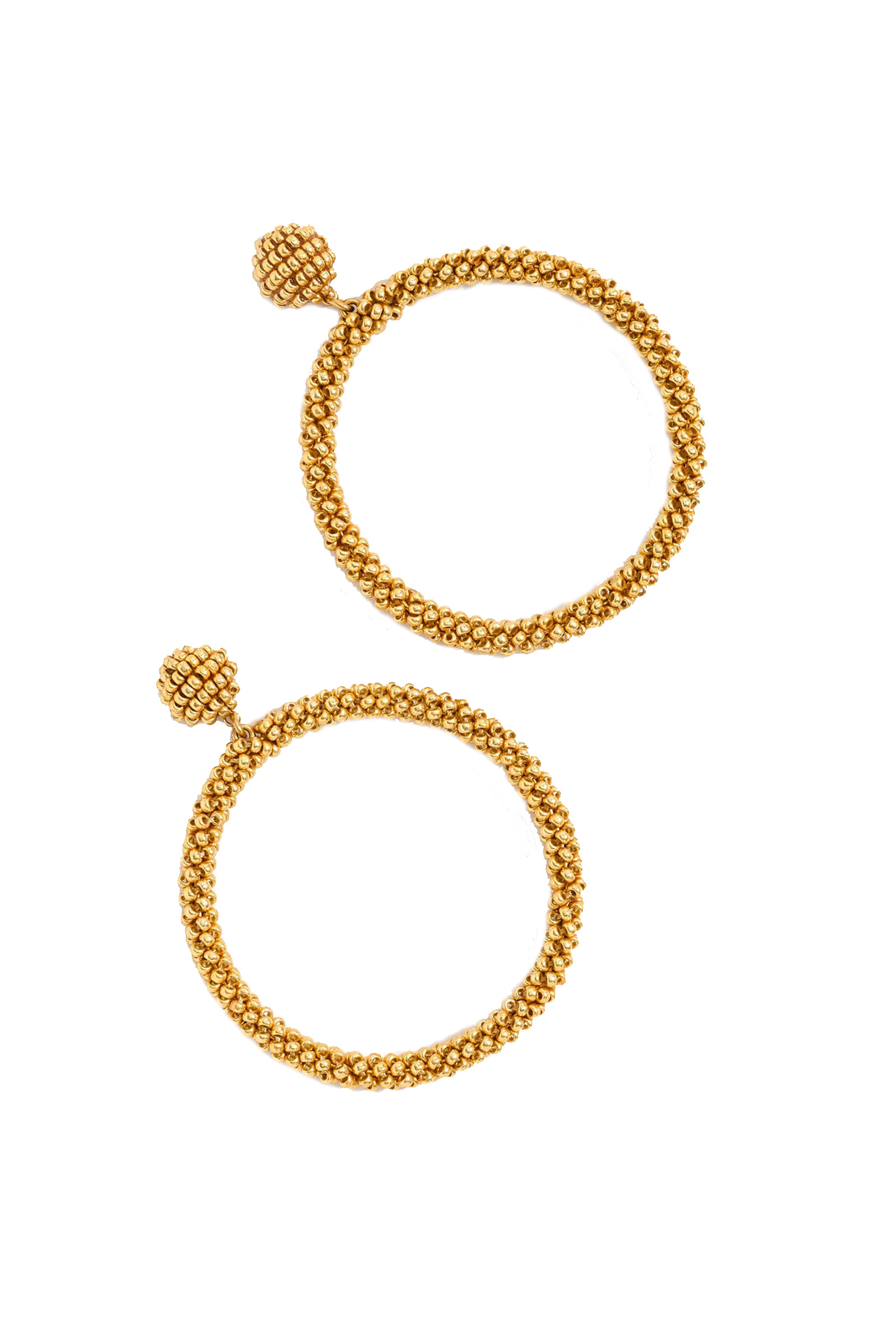 Click to Buy J. Crew Gold Beaded Earrings